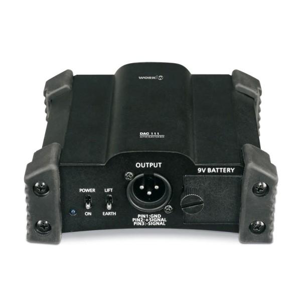 DAC111V2 Aktive 1-Kanal DI-Box