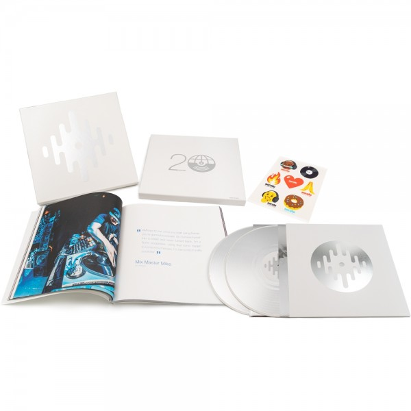 """20th Anniversary Box, 2x 12"""" Silber Picture Disc Vinyl + 2""""x12"""" Coffee-table book"""
