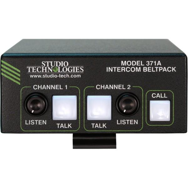 Model 371A 2 Kanal Dante Intercom Beltpack