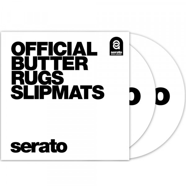 """12"""" Butter Rugs Slipmats weiß"""