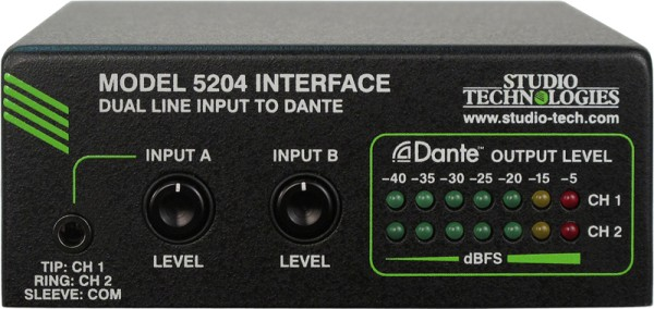 Model 5204 2 x Line In zu Dante Interface