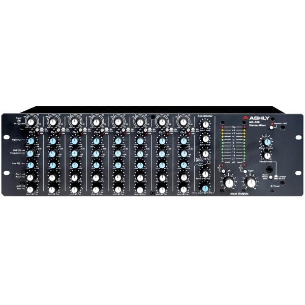 MX-508 8-Kanal Stereo Mic/Line Rackmixer